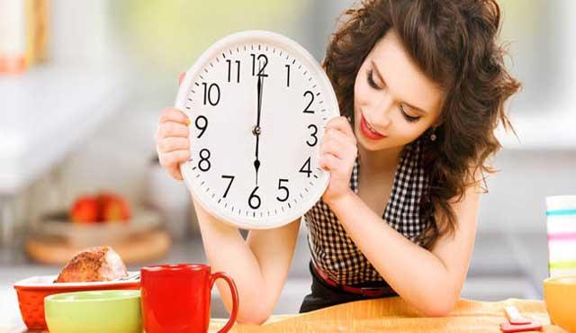 schedule diet regularly