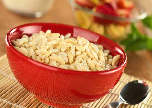 puffed rice for preventing obesity