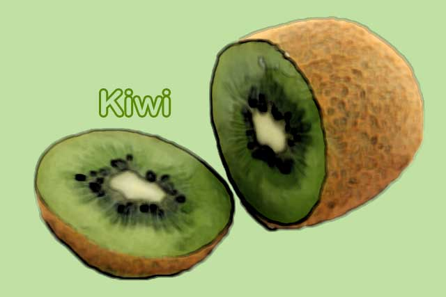 kiwi foods rich in vitamin c