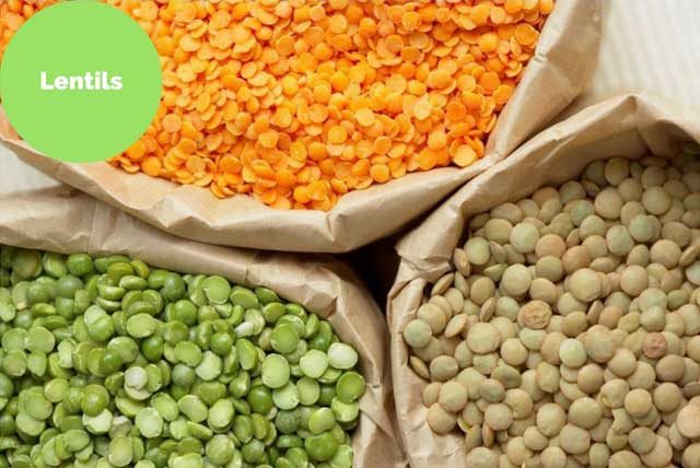lentils high in iron mineral