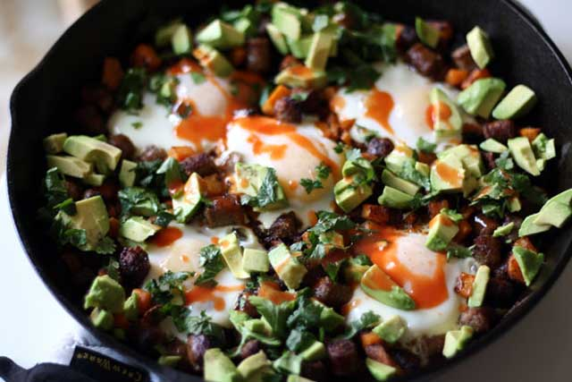 Cowboy Breakfast Skillet low carbohydrate breakfast recipe