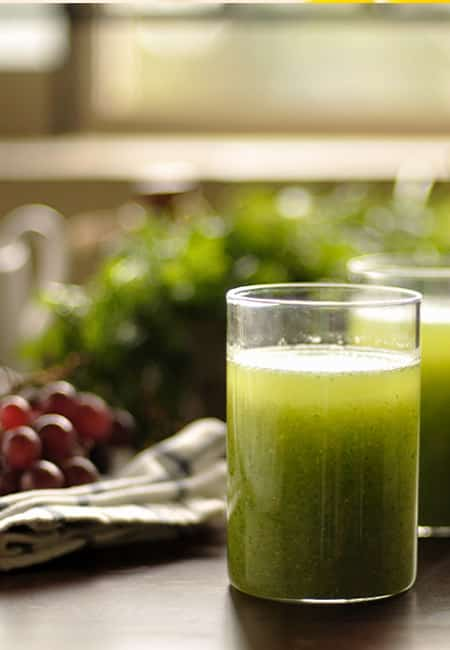 Broccoli And Green Grapes Juice