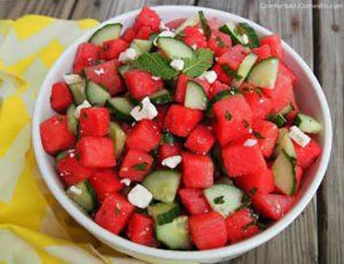 Cucumber-Watermelon Salad