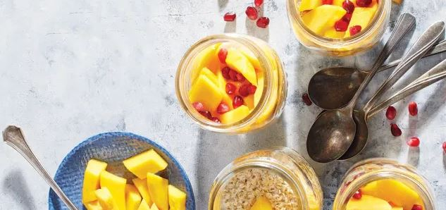 Mango-Ginger Overnight Oats recipe for weight loss
