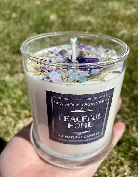 New Moon Beginnings Peaceful Home Candle