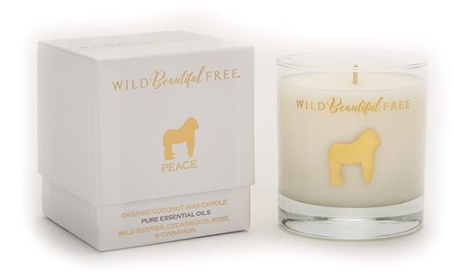 Wild Beautiful Free Lavender and Vanilla Organic Aromatherapy Candle